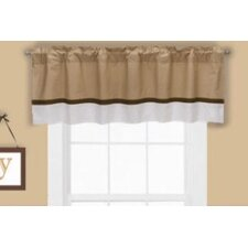 <strong>Bacati</strong> Metro Houndstooth Cotton Blend Curtain Valance