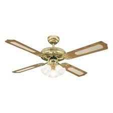 Monarch Trio Ceiling Fan in Polished Brass with Optional Remote Control