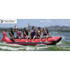 "6 - Passenger Inline Heavy Commercial ""Red Shark"" Banana Boat Water Sled"