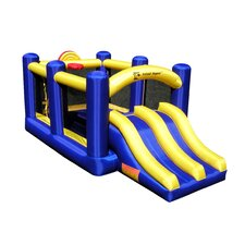 <strong>Island Hopper</strong> Racing Slide and Slam Bounce House