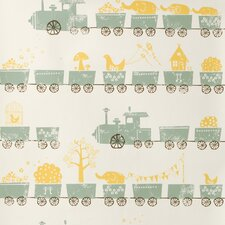 <strong>ferm LIVING</strong> Tiny Trains Wallpaper