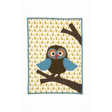 <strong>ferm LIVING</strong> Owl Quilted Cotton Blanket