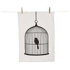 Birdcage Tea Towel