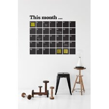 Calendar Wallsticker in Black