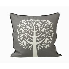 <strong>ferm LIVING</strong> Bird Leaves Silk Pillow
