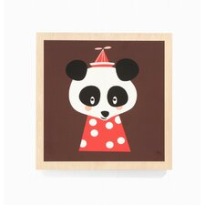 <strong>ferm LIVING</strong> Posey Panda Wooden Picture