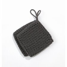 Knitted Pot Holders in Charcoal (Set of 2)