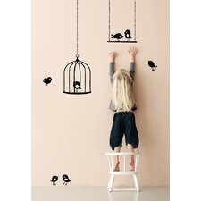 <strong>ferm LIVING</strong> Tweeting Birds Wall Decal