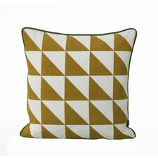 <strong>ferm LIVING</strong> Large Geometry Organic Cotton Canvas Cushion