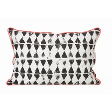 <strong>ferm LIVING</strong> Worn Triangle Print Organic Cotton Cushion