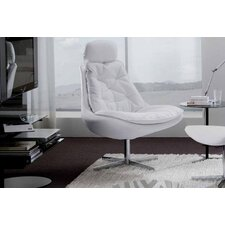 <strong>Bontempi Casa</strong> Daya Upholstered Armchair and Ottoman Set