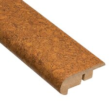 "0.63"" x 2.19"" Lisbon Spice Stair Nose Molding Cork in Sand"