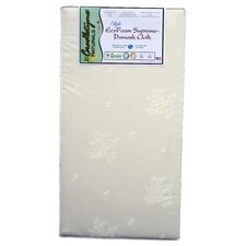 Cradletyme Naturals EcoFoam Supreme Damask Cloth Crib Mattress