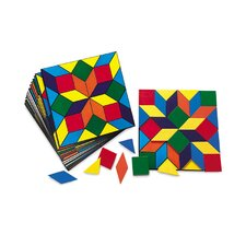 Parquetry Blocks and 20 Pattern Cards