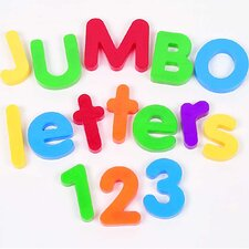 Jumbo Magnetic Letters and Numbers Combo Set 116 Piece Set