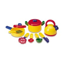 10 Piece Pretend and Play Cooking Set