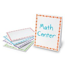 "Center Signs 1' x 9"" Whiteboard (Set of 5)"