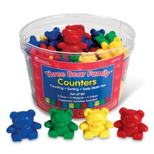 Three Bear Family Counters 80 Piece Set
