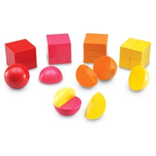 <strong>Learning Resources</strong> Magnetic 3-d Fraction Shapes