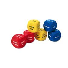Soft Foam Story Starter Word Cubes 6 Piece Set