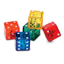 <strong>Learning Resources</strong> Dice In Dice 72 Piece Set