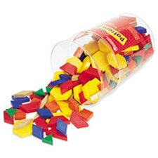 Pattern Blocks Plastic 1cm 250/pk