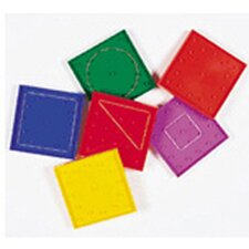 Geoboard Double-Sided Rainbow 6 Piece Set