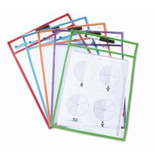 <strong>Learning Resources</strong> Write and Wipe Pocket (Set of 5)