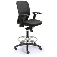 <strong>Valo</strong> Height Adjustable Drafting Polo Chair with Mesh Back