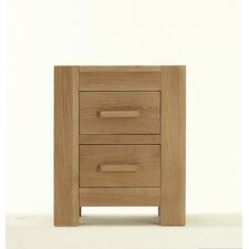 Block 2 Drawer Bedroom Bedside Table