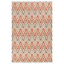 Klein Orange & Red Area Rug