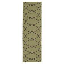 Fallon Lime Green/Chocolate Area Rug
