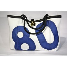 Rope Tote in White Sailcloth and Number