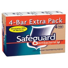 Procter & Gamble - Safeguard Deodorant Soaps (Pack/4) Safeguard Bathbar 4 Oz: 608-08833 - (pack/4) safeguard bathbar 4 oz