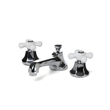 Metropolitan Widespread Bathroom Faucet with Double Porcelain Cross Handles