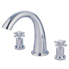Double Handle Deck Mount Roman Tub Faucet Trim Concord Cross Handle
