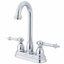 Double Handle Centerset Bar Faucet with Templeton Lever Handles