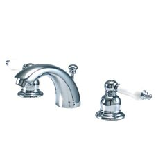 <strong>Elements of Design</strong> Elizabeth Mini Widespread Bathroom Faucet with Double Porcelain Lever Handles