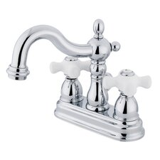 Heritage Centerset Bathroom Faucet with Double Porcelain Cross Handles