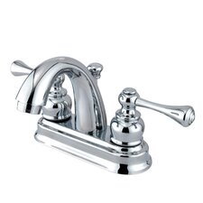 Vintage Centerset Bathroom Faucet with Double Lever Handles