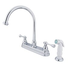 <strong>Elements of Design</strong> Vintage Deck Mount Two Handle Centerset Kitchen Faucet with Buckingham Lever Handles