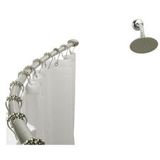 <strong>Elements of Design</strong> Adjustable Hotel Curved Shower Rod