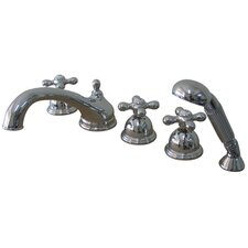 Roman Tub Faucet and Diverter Hand Shower
