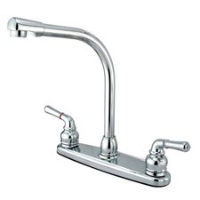 <strong>Elements of Design</strong> High Arch Double Handle Centerset Kitchen Faucet with Magellan Lever Handles