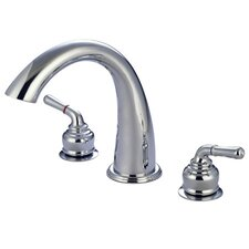 <strong>Elements of Design</strong> St. Charles Double Handle Deck Mount Roman Tub Faucet