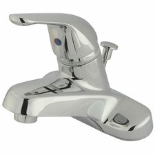 Centerset Bathroom Faucet with Single Lever Handle