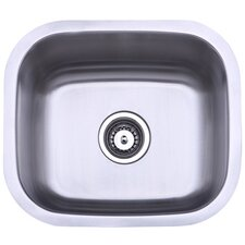 "13.88"" x 13.5"" Undermount Single Bowl Kitchen Sink"