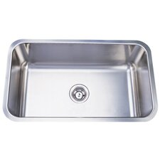 "30.13"" x 17.88"" x 10"" Undermount Single Bowl Kitchen Sink"