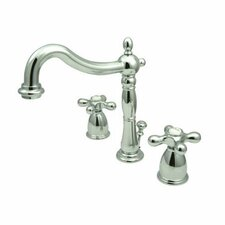 Heritage Widespread Bathroom Faucet with Double Cross Handles