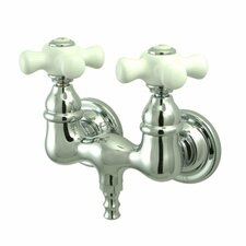 Vintage Double Handle Wall Mount Clawfoot Tub Faucet Trim